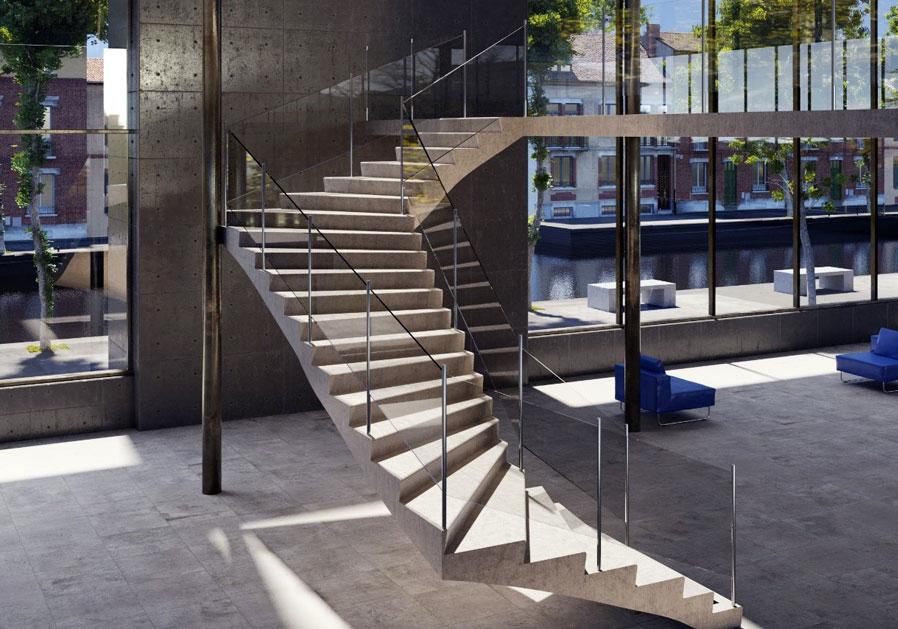 PBM Group Produktaufbau Treppe nach oben