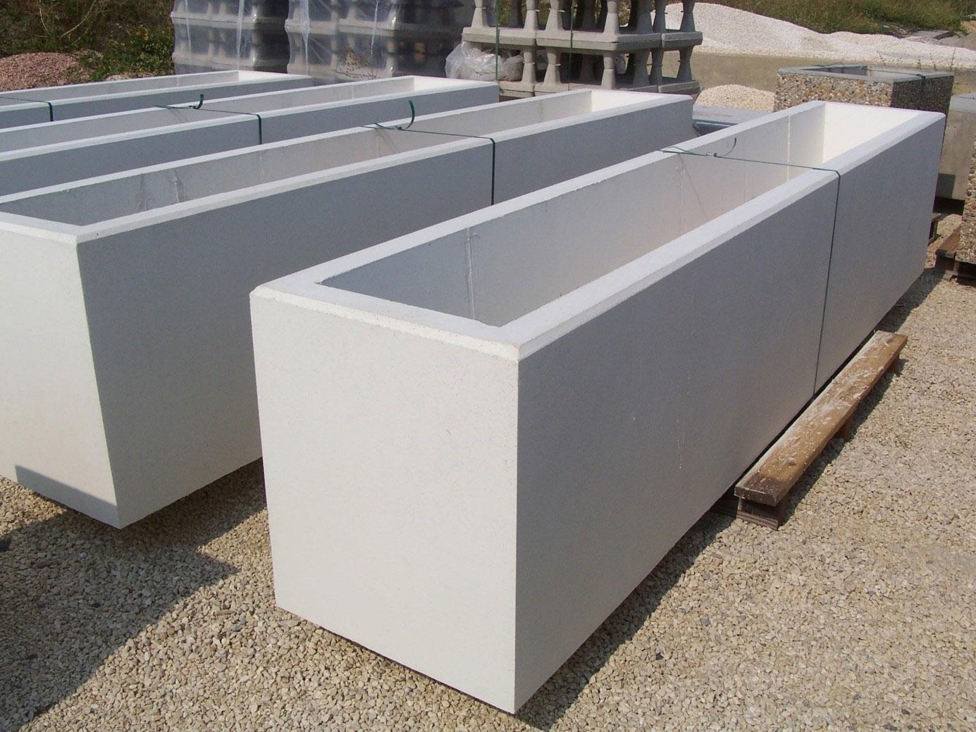 Bac A Fleur Grande Taille jardiniere beton - solutions en bétons préfabriqués - groupe pbm